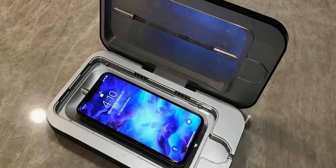 smartphone UV sanitiser machine
